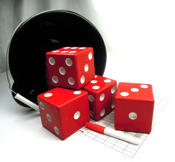 Badger Wooden Yard Dice - Set of 6