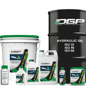 The whole line of DGP bio-based synthetic lubricants and solutions.