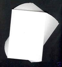 A2 White Painting Card
