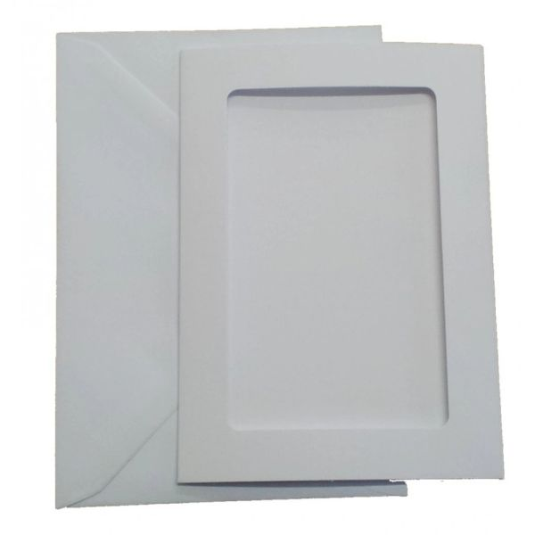 A6 White Aperture Cards, pack of 5