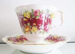 Royal Albert, Garland Series, Elegance Bone China Cup and Saucer