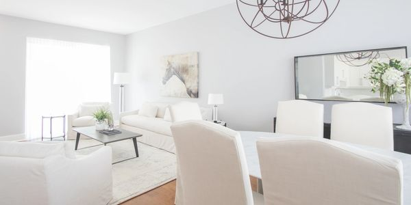 Vacant property living room staging and styling . Remarkable Interiors