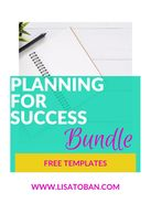 Planning for Success Templates by Lisa Toban - Content Creator www.lisatoban.com