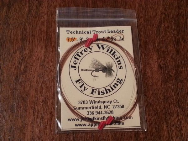 JWFF Custom Hand Tied Technical Trout Leader
