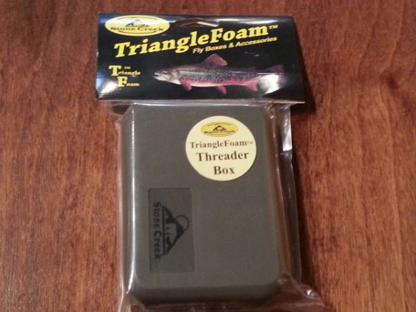 JWFF Stone Creek Triangle Foam Threader Fly Boxes