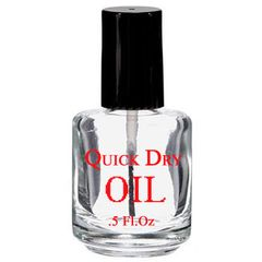 Imprinted Clear Bottle - Quick Dry Oil 0.5oz