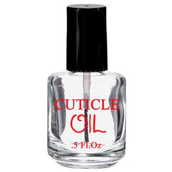 Imprinted Clear Bottle - Cuticle Oil 0.5oz
