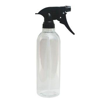 Clear Disinfectant Spray Bottle - Black Top 12oz