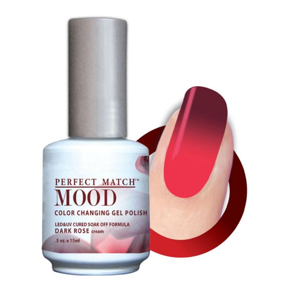 Perfect Match Mood Gel Polish Dark Rose - MPMG34