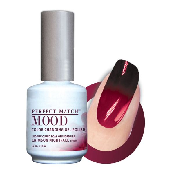 Perfect Match Mood Gel Polish Crimson Nightfall - MPMG18