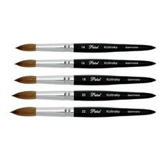 Petal Acrylic Brush - 5 Angles Black