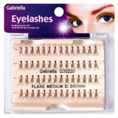 Gabriella Flare Eyelash - Medium Brown