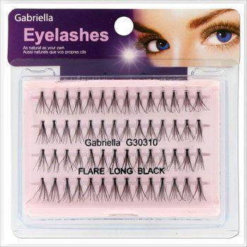 Gabriella Flare Eyelash - Long Black