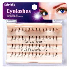 Gabriella Flare Eyelash - Short Black