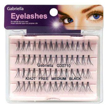 Gabriella Natural Eyelashes - Medium Black