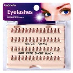 Gabriella Natural Eyelashes - Short Black