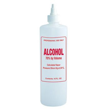 Imprinted Nail Solution Bottle - Alcohol 16oz