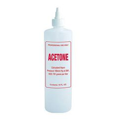 Imprinted Nail Solution Bottle - Acetone 16oz