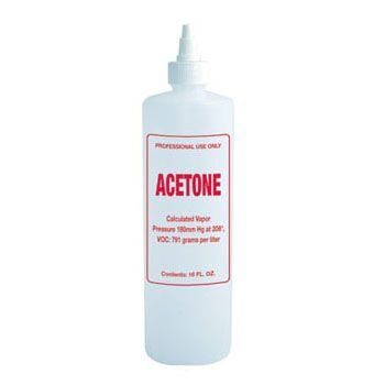 Imprinted Nail Solution Bottle - Acetone 16oz