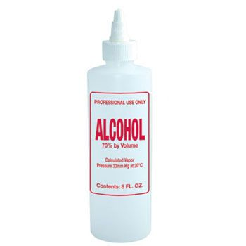 Imprinted Nail Solution Bottle - Alcohol 8oz