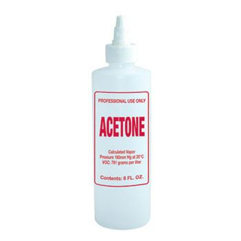 Imprinted Nail Solution Bottle - Acetone 8oz