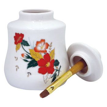 Cuticle Oil Jar with Brush - Large