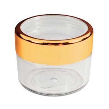 Twist Cap Jar with Gold Rim - 18ml/.61 oz