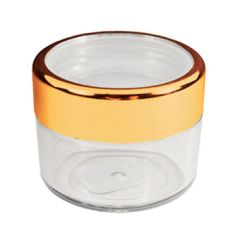 Twist Cap Jar with Gold Rim - 6ml/.20 oz