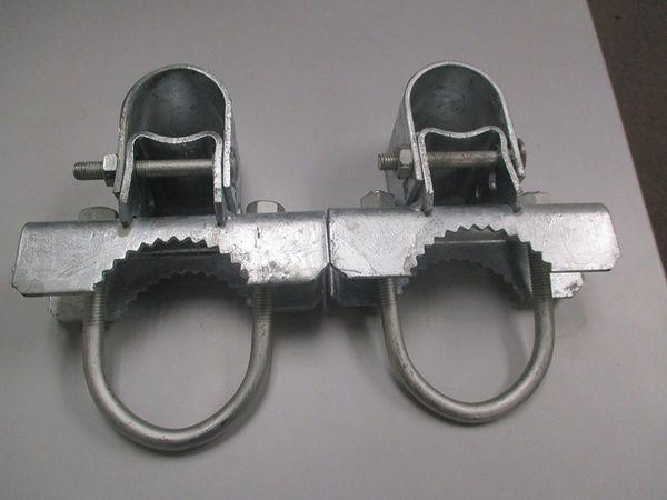 2 Sets Pack FenceSmart Pressed Steel Chain Link Fence Frame Hinge w//Bolt - 1-7//8