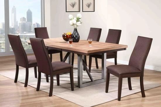 Miraculous Spring Creek Dining Table And Six Chairs Set Ibusinesslaw Wood Chair Design Ideas Ibusinesslaworg