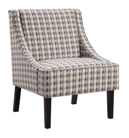 Surprising Brown Diamond Pattern Accent Chair Gmtry Best Dining Table And Chair Ideas Images Gmtryco