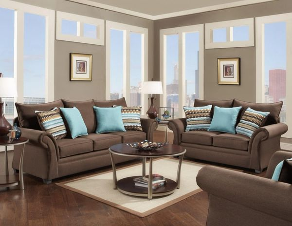Groovy Jitterbug Gray Cocoa Brown Sofa And Loveseat Gamerscity Chair Design For Home Gamerscityorg