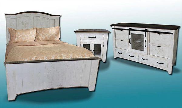 Brilliant Glide Barn Door Bedroom Set King Bed Dresser Mirror And Nightstand Download Free Architecture Designs Rallybritishbridgeorg