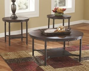 Groovy Sandling Coffee Table W Two End Tables Ocoug Best Dining Table And Chair Ideas Images Ocougorg