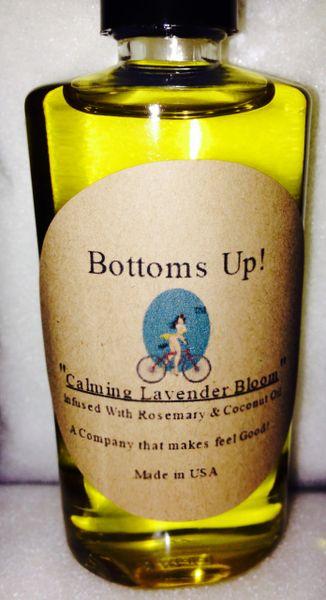 """Calming Lavender Bloom"" Coconut Oil Infused Body & Massage Oil 4 0z"