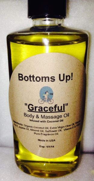 """Graceful"" Coconut Oil Infused Body & Massage Oil 4 oz"