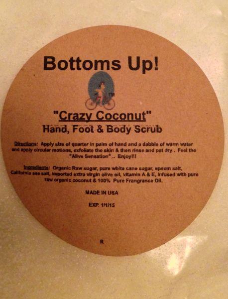 """Crazy Coconut"" All Natural Hand Foot & Body Scrub 8oz"