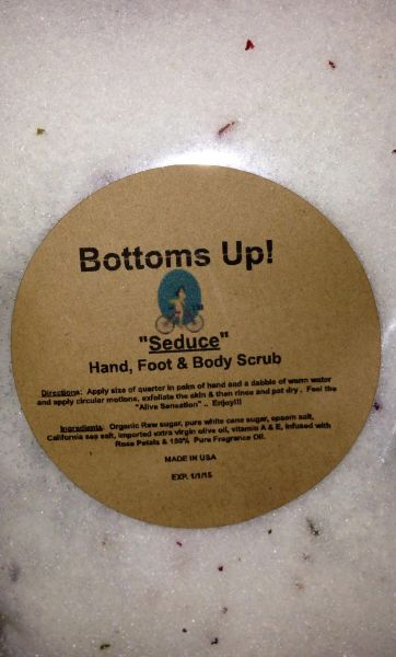 """Seduce"" All Natural Pure Oil Infused Hand Foot & Body Scrub 8 oz"