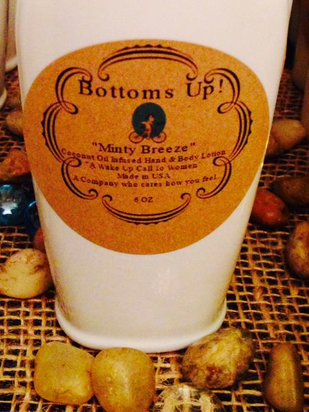 """""""Minty Breeze"""" Coconut Oil Infused Hand and Body Lotion 6oz"""