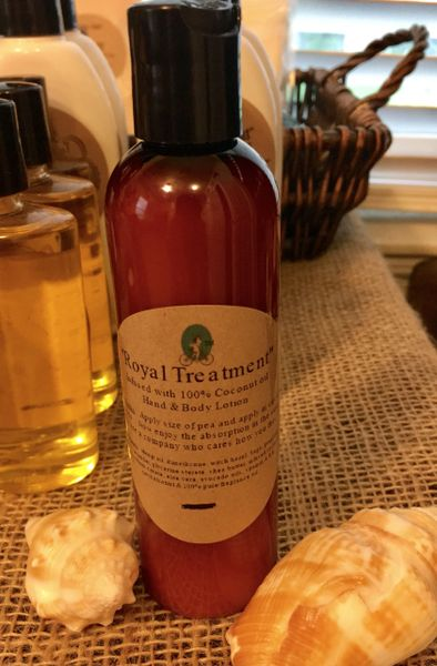 """Royal Treatment"" Coconut Oil Infused Hand and Body Lotion 5oz"