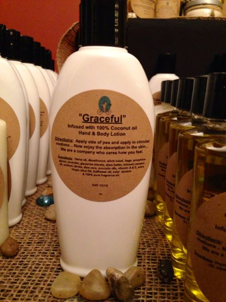 """Graceful"" Coconut Oil Infused Hand and Body Lotion 6 OZ"