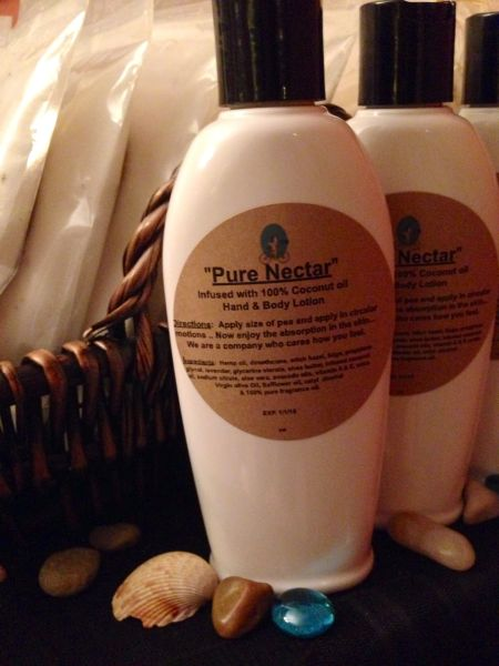 """Pure Nectar"" Coconut Oil Infused Hand and Body Lotion 6 OZ"