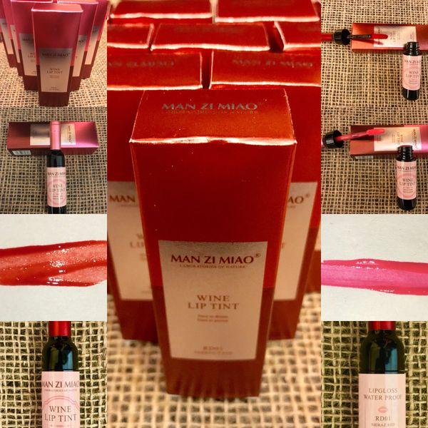 Man Zi Miao Wine Lip Tint in Blush Pink or Shiraz Red 1