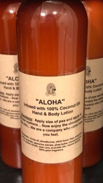 """ALOHA"" Coconut oil Infused Hand & Body Lotion 4 OZ"
