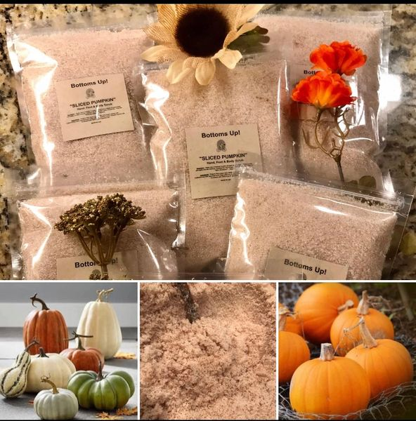 """Slice of Pumpkin"" All Natural Pure Oil Infused Hand Foot & Body Scrub"