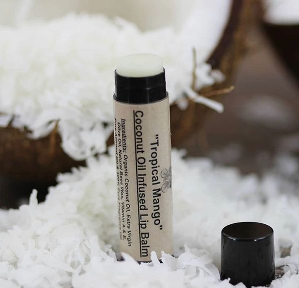 """""""OUR #1 TROPICAL MANGO"""" Coconut Oil Infused Lip Balm .75 oz"""