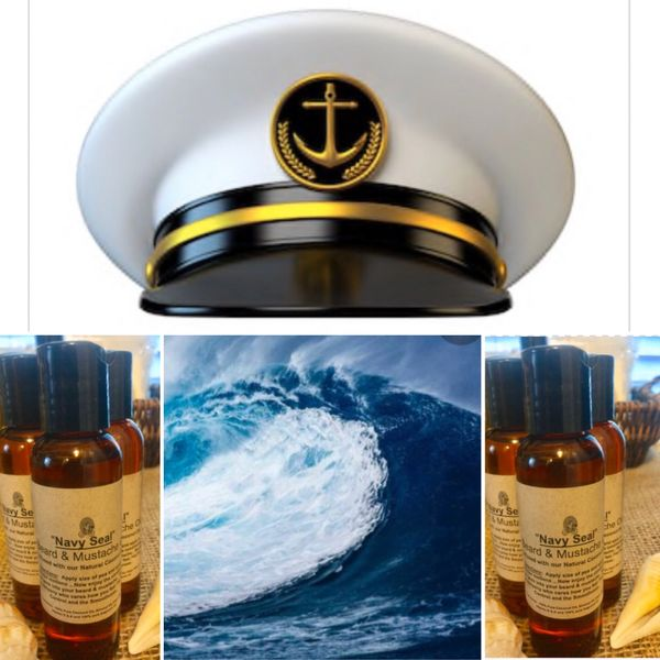 """NAVY SEAL"" Tip-Top Mustache & Beard Oil in 2oz"