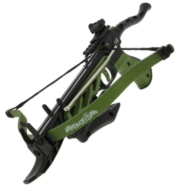 ANGLO ARMS MANTIS 80LB DRAW SELF COCKING PISTOL CROSSBOW WITH BUILT IN  TACTICAL GRIPS  INCLUDING 15 FREE METAL BOLTS