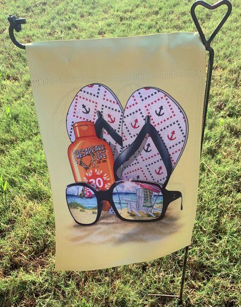 Sunglasses & Flops Garden Flag