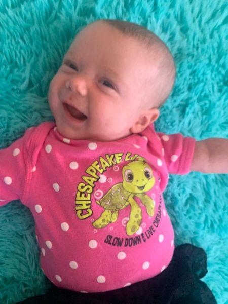 Baby Turtle Short Sleeve Onesie